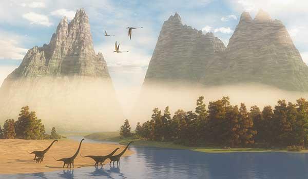 Dinosaurs prehistoric