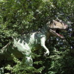 Allosaurus in the forest