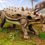 Ankylosaurus walking on four legs scaled