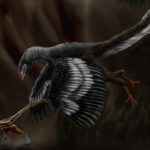 Archaeopteryx catching prey scaled