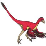 Bambiraptor long tail scaled