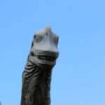 Brachiosaurus smiling stone head