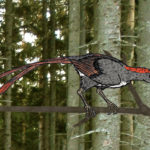 Confuciusornis ready to fly