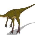 Dromiceiomimus sharp claws scaled