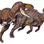 Gorgosaurus hunting