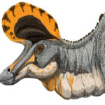 Lambeosaurus head