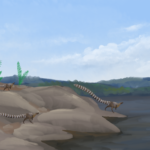 Leaellynasaura going to the sea