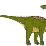 Magyarosaurus eating scaled