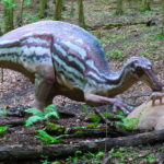 Maiasaura in the park scaled