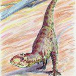 Majungasaurus bending neck