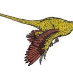 Microraptor long tail