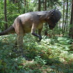 Pachycephalosaurus in the forest