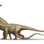 Saltasaurus walking