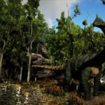Shunosaurus in the park