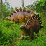 Stegosaurus in the forest