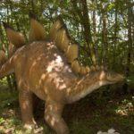 Stegosaurus walking scaled