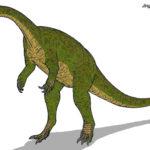 Jingshanosaurus eating scaled